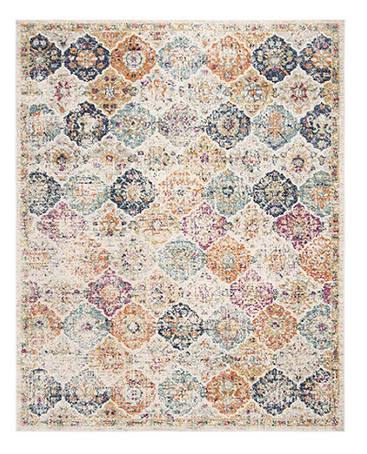 Multicolored Chic Distressed Area Rug