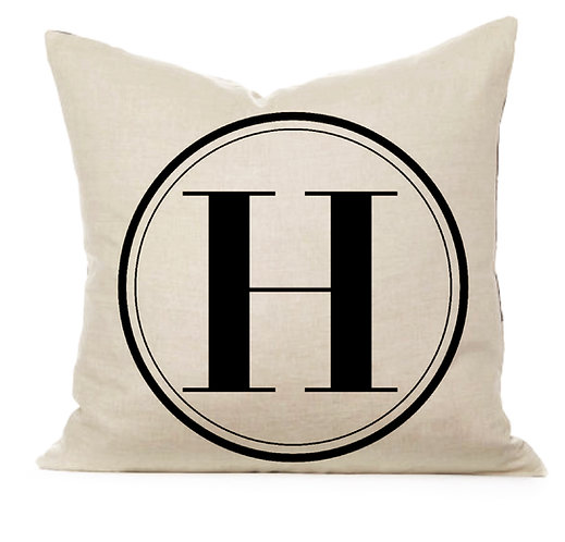 Initial Monogram Pillow Cover
