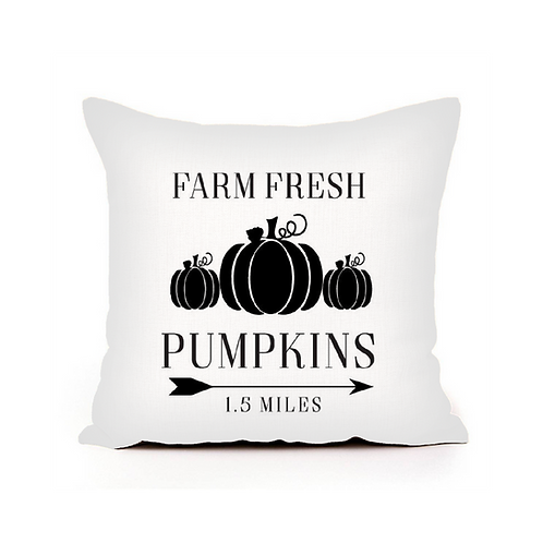 Farm Fresh Pumpkin Pillow Cover