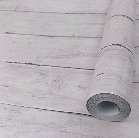 White Wood Peel & Stick Wallpaper