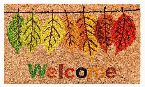 Fall Leaves Welcome Door Mat