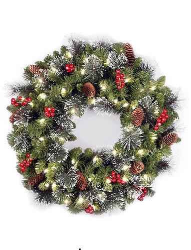 Flocked Crestwood Spruce Wreath