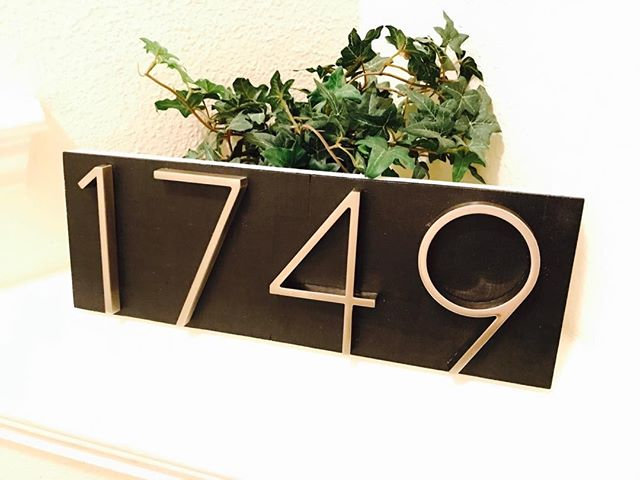 Modern House Number Plaque