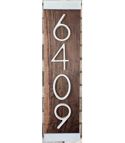 Bordered House Number Plaque, White