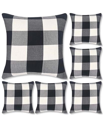 Buffalo Check Pillow Cover (Set of 6)