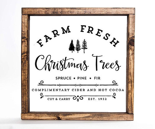 Farm Fresh Trees Sign