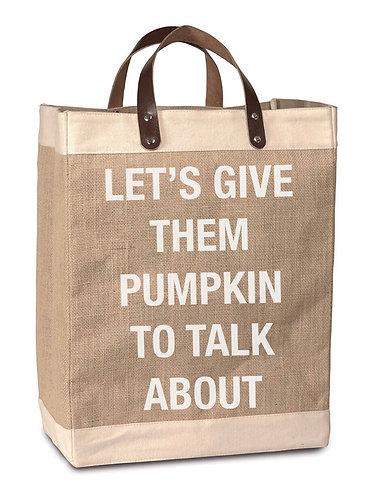 """""""Pumpkin to Talk About"""" Burlap Bag"""