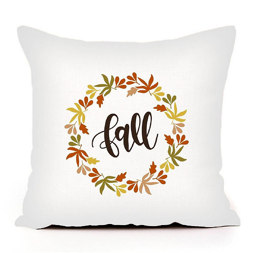 Fall Wreath Pillow Cover