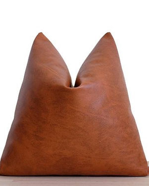 Faux Leather Pillow Cover
