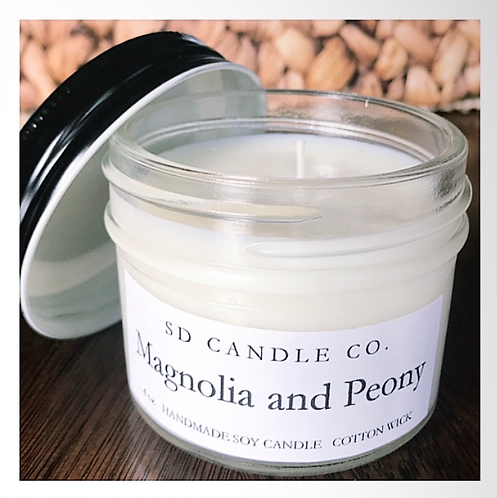 Magnolia & Peony Soy Candle