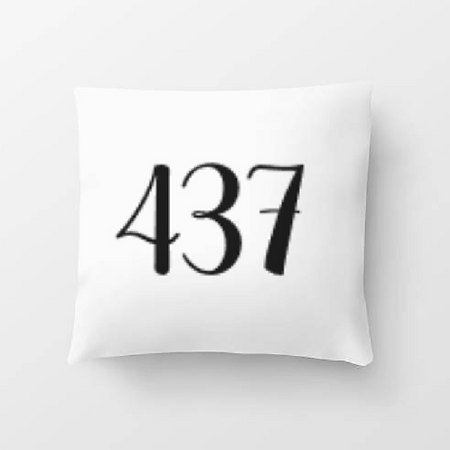 House Number Pillow Cover