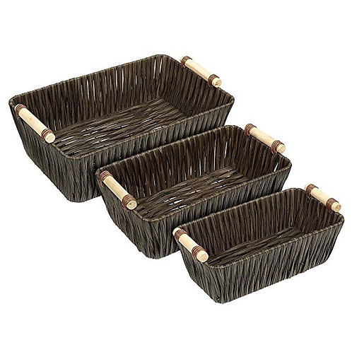 Decorative Woven Baskets Set of 3