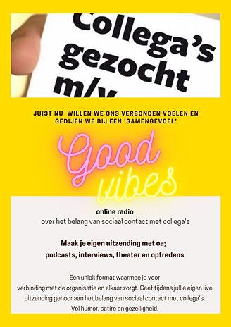 Good Vibes online radio - Laagdrempelig.