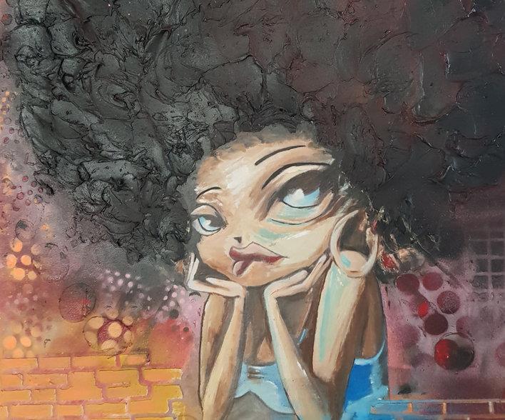 Girl of the street (d'après modèle)