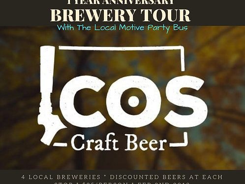 COS Craft Beer Group Brewery Tour - Feb 2nd