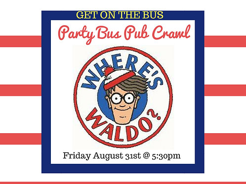 Where's Waldo Pub Crawl - Aug 31st