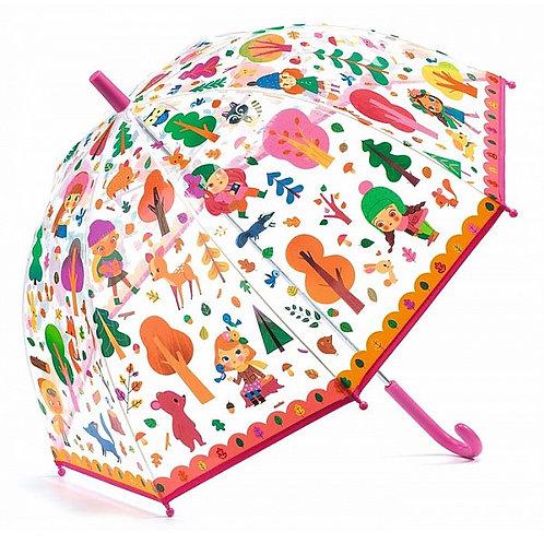 """Parapluie rose """"la forêt"""" - Djeco"""