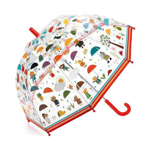 """Parapluie rouge """"sous la pluie"""" - Djeco"""