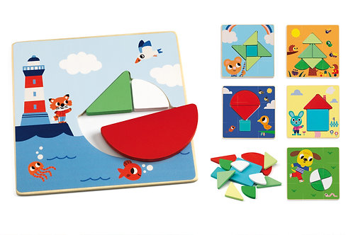Tangramini - Jeux éducatifs bois DJECO