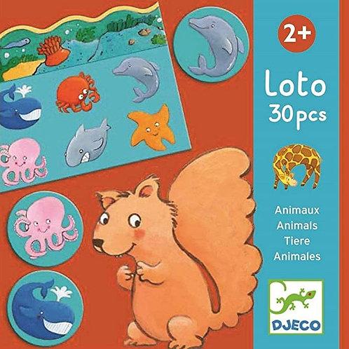 Loto des animaux - Jeux éducatifs DJECO