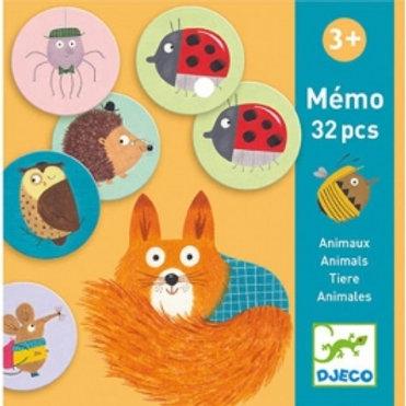 Mémo animaux - Jeux éducatifs DJECO