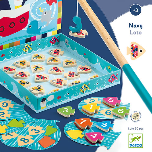 Navy-loto - Jeux éducatifs bois DJECO