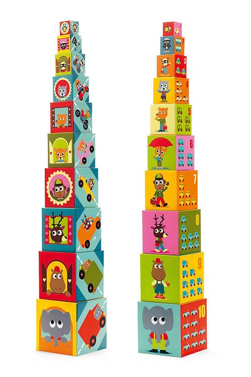 10 cubes Véhicules - Cube premier âge DJECO