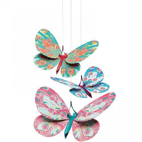 Suspensions Papillons paillettes - Djeco