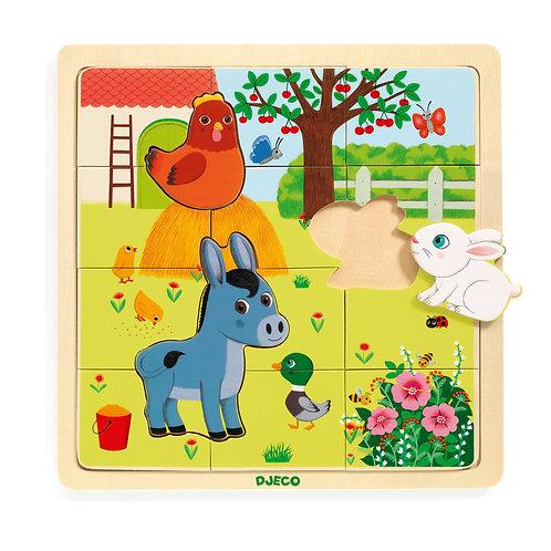 Puzzlo Farm - Puzzles éducatif bois DJECO