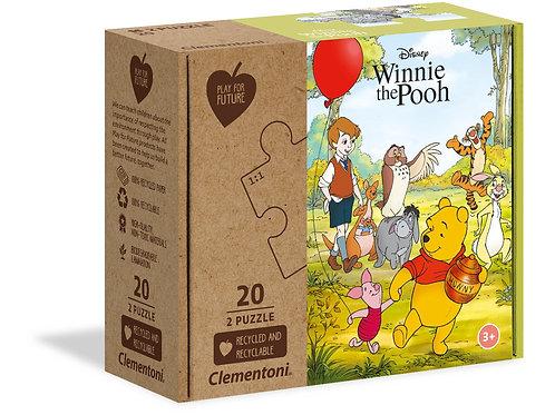 Winnie l'Ourson- 2x20 pièces - Clementoni