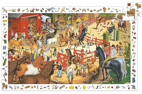Equitation - 200 pcs - Puzzles observation DJECO