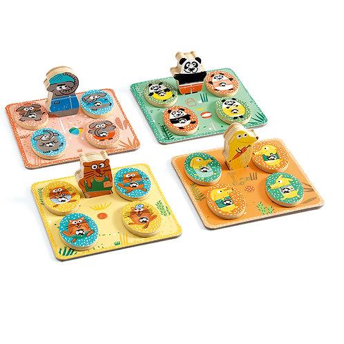 LudoPark / 4 games - Jeux éducatifs bois DJECO