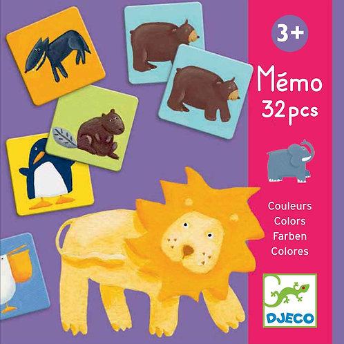 Mémo animaux couleurs - Jeux éducatifs DJECO