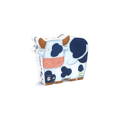 Les vaches à la ferme - Puzzles silhouettes DJECO