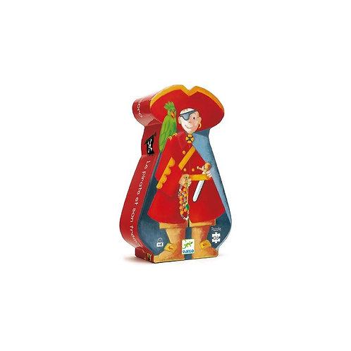 Le pirate et son trésor - 36 pcs  - Puzzles silhouettes DJECO