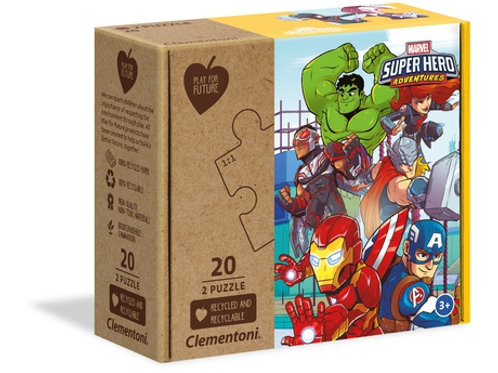 Marvel super héro -  2x20pcs CLEMENTONI