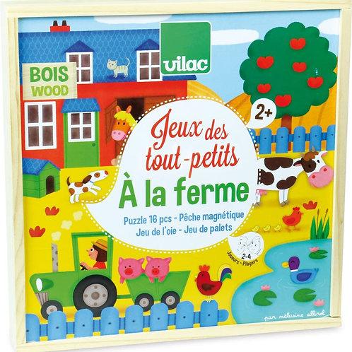 """Jeu des tout-petits """"à la ferme"""" - Vilac"""