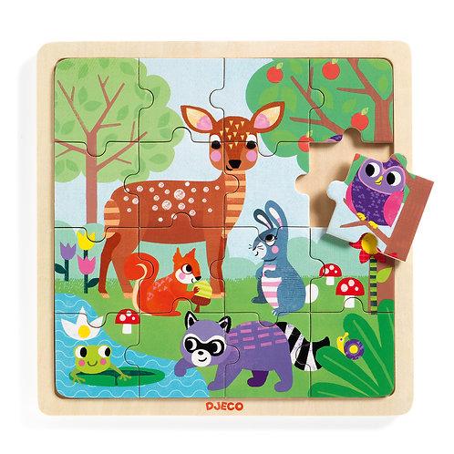Puzzlo Forest - Puzzles éducatif bois DJECO