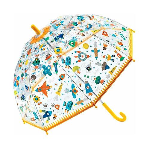 """Parapluie jaune """" l'espace"""" - Djeco"""