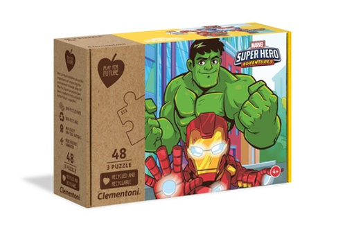 Marvel super héro - 3x48 pcs maxi CLEMENTONI