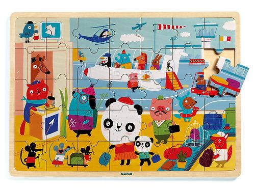 Puzzlo airport - Puzzles éducatif bois DJECO
