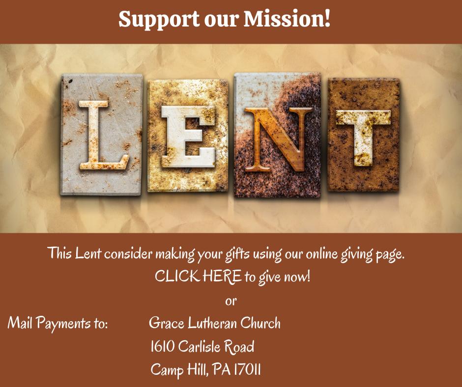 Lenten Giving