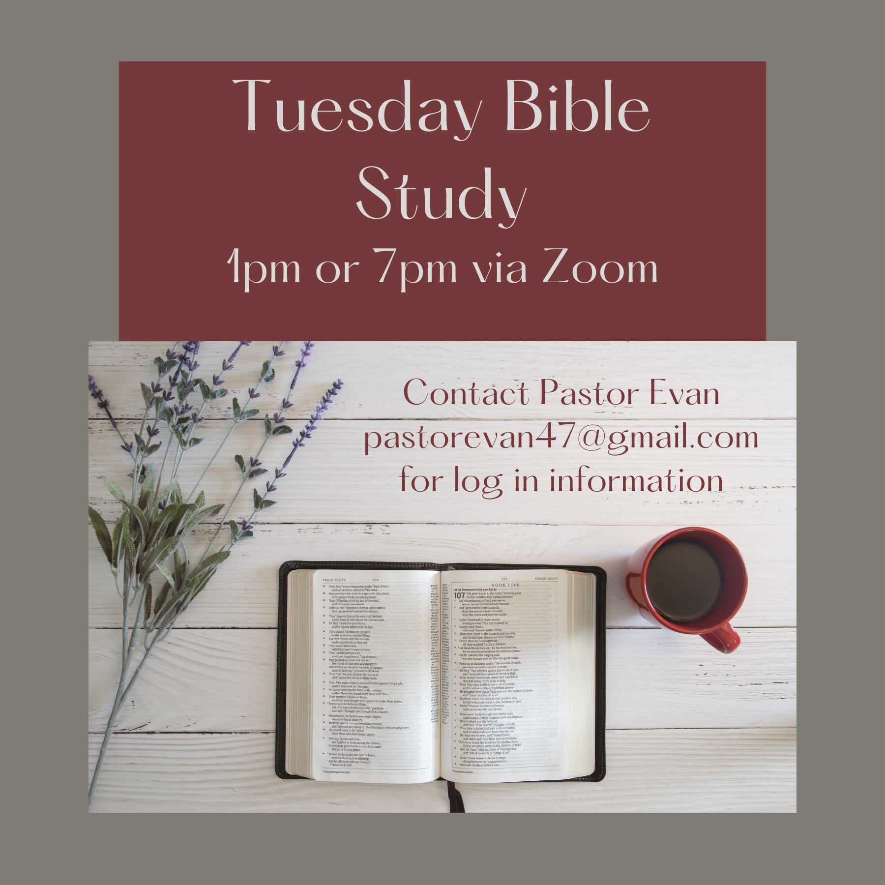 Tuesday Bible Study 1A