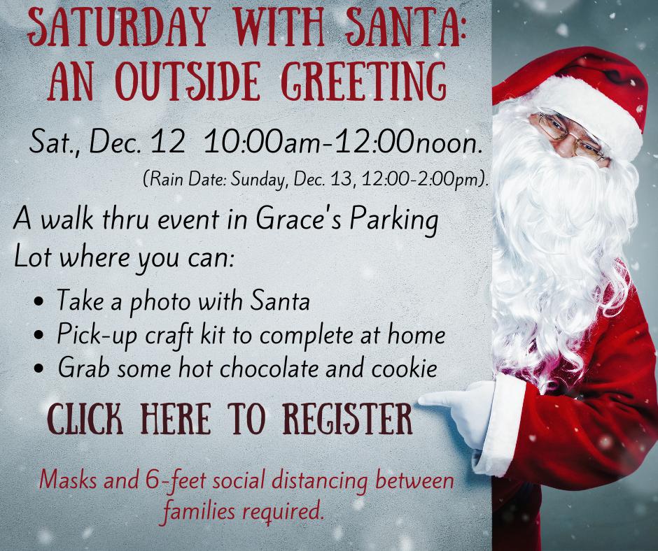 Saturday With Santa An Outside Greeting.