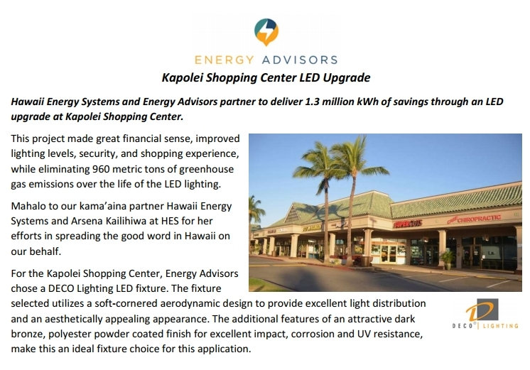 Kapolei Shopping Center Marketing Piece.