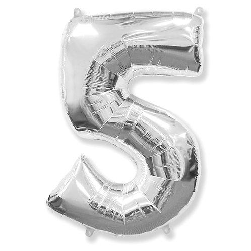 """Balão 40"""" metalizado número 5"""