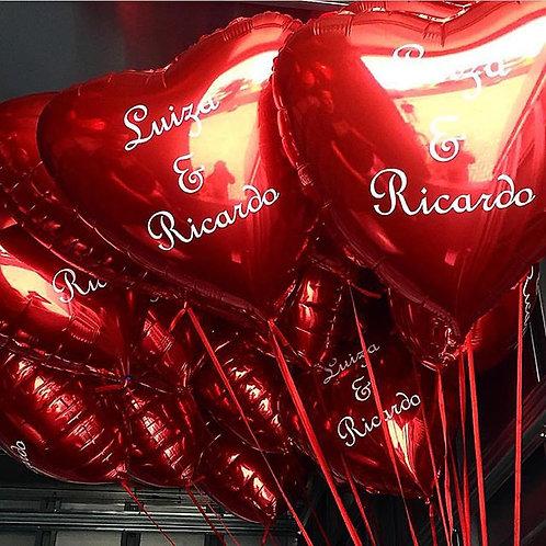 2 balões de número + 4 balões personalizados