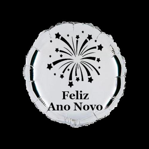 4 balões personalizados Feliz Ano Novo