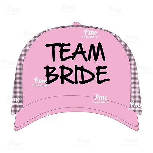 Boné Team Bride colorido