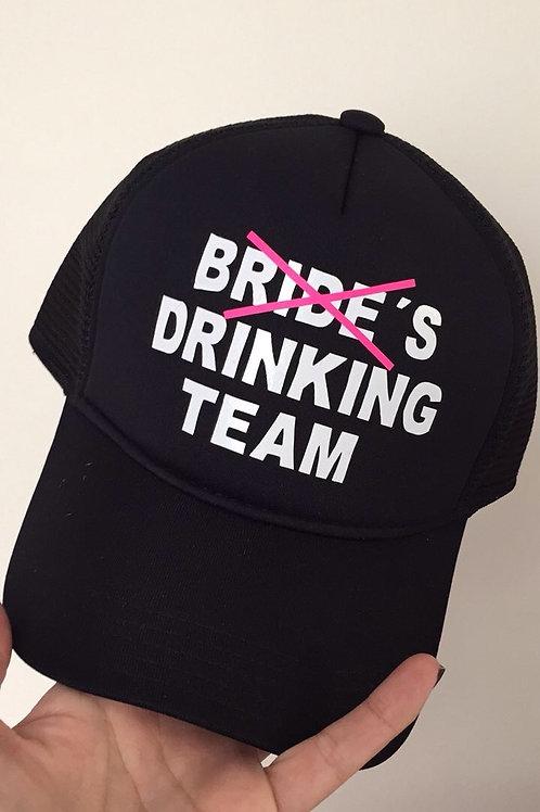 Boné preto Bride's Drinking Team